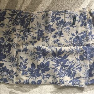 J. Crew floral silk cotton blend scarf wrap